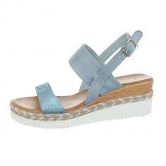Sandale sic, albastre, cu platforma foto