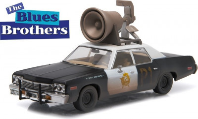 """Blues Brothers (1980) - 1974 Dodge Monaco """"Bluesmobile"""" with Horn on Roof - Hollywood 1:43 foto"""