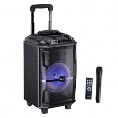 Boxa portabila Akai ABTS-H12L, 40W, microfon wireless, Bluetooth, radio FM, karaoke, USB, lumini disco
