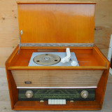 RADIO ROMANESC VINTAGE CU PICK-UP, PE LAMPI - MARCA ELECTRONICA - FUNCTIONAL