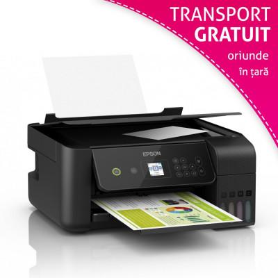 Multifunctionala inkjet Epson EcoTank L3160, CISS integrat, Wi-Fi, format A4, LCD foto