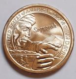Monedă 1 Dollar USA SUA 2017 Sacagawea necirculata, Native, Sequoyah, P/D, America de Nord