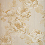 Cumpara ieftin Tapet floral, crem, auriu, dormitor, living, lavabil, 405305