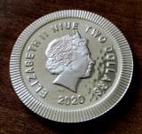 NIUE - 2 Dolari ( Dollars ) 2020 - Bufnita Ateniana - o uncie argint - 31.1 gr.