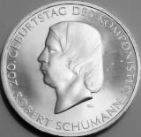 Moneda jubiliara GERMANIA - 10 euro 2010 - Robert Schuman - UNC, Europa, Argint