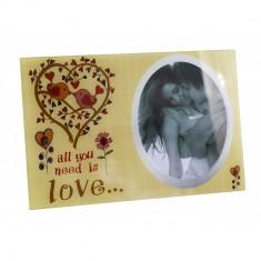Rama foto sticla All you need is love