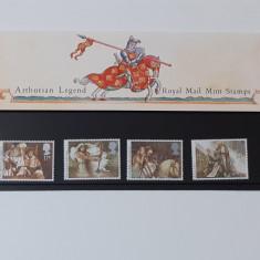 Timbre Anglia 1985 - Serie Legenda Regelui Arthur, In Folie De Prezentare MNH