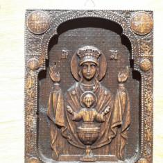 Icoana pe lemn , Maica Domnului, Iisus , dimensiune 20x25