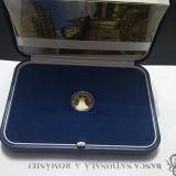 100 Lei 2019 AUR, PROOF, in cutie BNR, cu certificat, 550 Ani Manastirea Putna