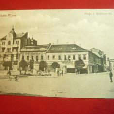Ilustrata Satu Mare 1925 - Piata I.Bratianu