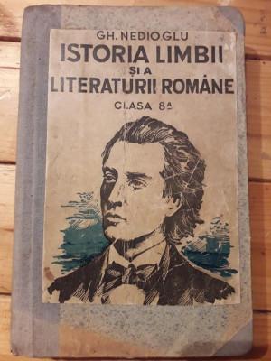 Manual Limba romana in evolutia ei istorica si literara clasa a VIII-a Nedioglu foto