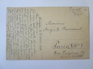 Rara! Carte postala colaj/mozaic Suceava ocupatia austriaca,circulata 1920
