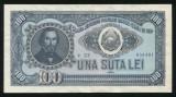 u734 BANCNOTA 100 LEI 1952 SERIE ALBASTRA aUNC APROAPE NECIRCULATA