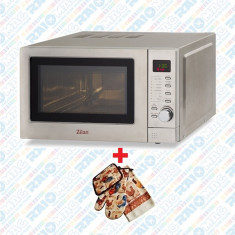 Cuptor cu microunde digital din inox, 800 W, 20 litri, Zilan