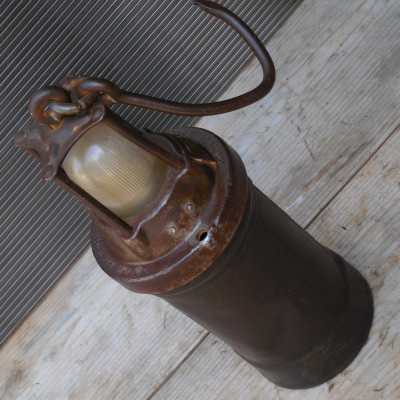 RARITATE! LAMPA DE MINA / MINER CU ACUMULATOR ELECTRIC, DE PROVENIENTA GERMANA foto