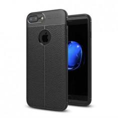 Husa iPhone 7 Plus Silicon TPU Colorat Negru Autofocus Black