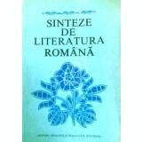 Sinteze de literatura romana