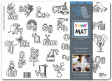 Plansa pentru colorat, reutilizabila, alfabet, silicon, 48 X 335 cm
