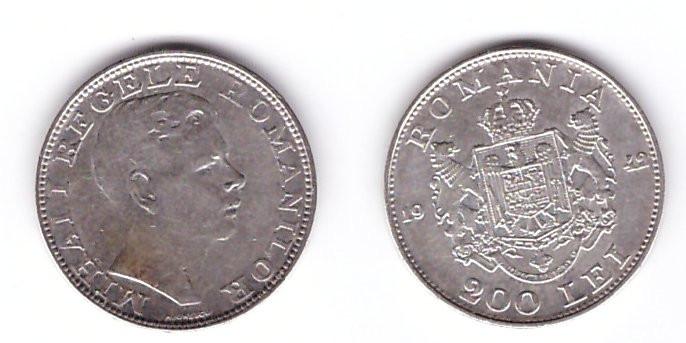 Romania 1942 - 200 lei Ag, Regele Mihai, circulata