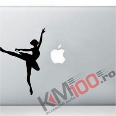 Dancing Ballerina Silhouette Macbook Laptop Sticker