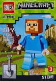 Cumpara ieftin Mini Figurina, de Tip Lego, Minecraft, STEVE