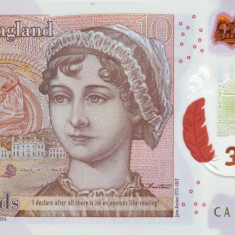 Anglia bancnota polimer 10 pounds 2016 - UNC - scan original