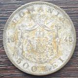 (MR26) MONEDA ROMANIA - 500 LEI 1945, REGELE MIHAI I,  PLACATA CU ARGINT