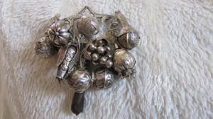 Brosa argint veche sporul casei Penca de Balangandan