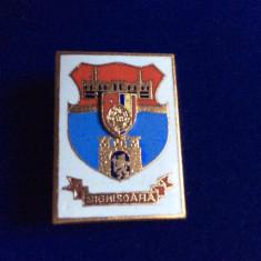 INSIGNA HERALDICA - REPUBLICA SOCIALISTA ROMANIA - SIGHIȘOARA