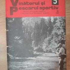 REVISTA &quot,VANATORUL SI PESCARUL SPORTIV&quot, , NR. 5 MAI 1976