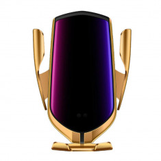 Incarcator auto wireless Qi, senzor infrarosu, auriu, Gonga