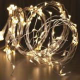 Ghirlanda micro LED-uri alb cald, cablu alama, interior/exterior