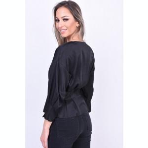 Bluza Eleganta Vero Moda Hanna Button 3/4 Negru