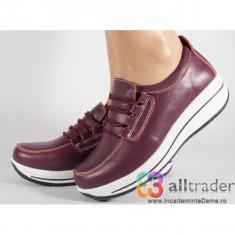 Pantofi visinii piele naturala talpa convexa (cod AC019-26)