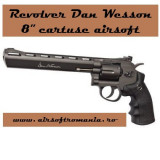 "Revolver Dan Wesson 8"" CO2 cartuse airsoft"