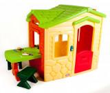Casuta picnic cu terasa - Crem