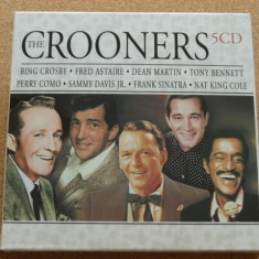 Set 5CD-uri The Crooners,Frank Sinatra,Nat King Cole,Sammy Davis JR,Fred Astaire