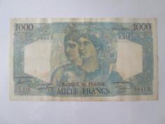 Fran?a 1000 Francs/Franci 1949 tip Minerva ?i Hercule 1945-1950 foto