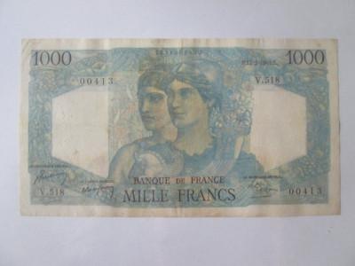 Franța 1000 Francs/Franci 1949 tip Minerva și Hercule 1945-1950 foto
