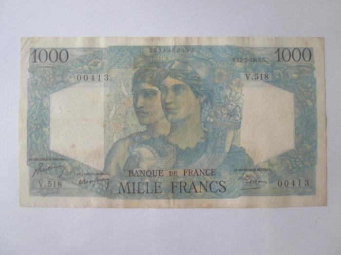 Franța 1000 Francs/Franci 1949 tip Minerva și Hercule 1945-1950