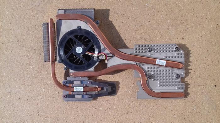 Radiatoare procesor si placa video cu ventilator HP EliteBook 8730w (6043B0045901/6043b0054801/6033B0015001)