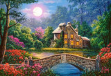 Puzzle Castorland - Cottage in the Moon Garden 1.000 piese (104208)