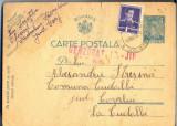 AX 198 CP VECHE-D-LUI ALEXANDRU STRESINA-COM. CUDALBI-COVURLUI-CIRC.1942CENZURAT, Circulata, Printata