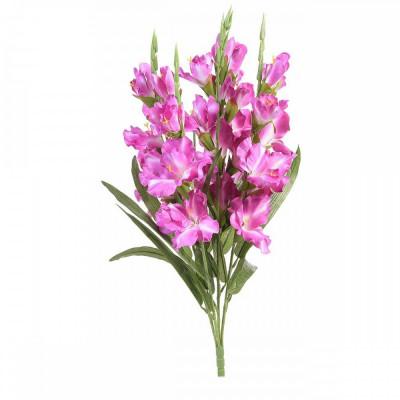 Buchet de flori artificiale gladiole roz intens 58 H foto