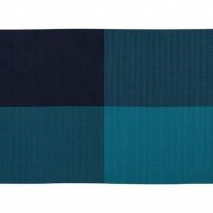 Set 4 individualuri Grid Blue 30x45 cm