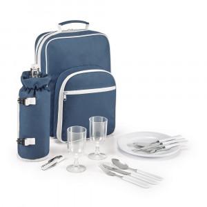 Rucsac picnic termoizolant, gentuta sicla detasabila, Everestus, NB, 600D, albastru, saculet si pastila racire incluse