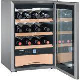 Vitrina pentru vin WKes 653, 38 L, Clasa E, Inox, Liebherr