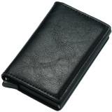 Portofel unisex, port card iUni P1, RFID, Compartiment 6 carduri, Negru