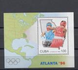 Cuba, box, JO Atlanta  1996, colita, MNH, Nestampilat