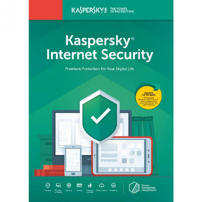 Antivirus Kaspersky Internet Security 2020 1 Dispozitiv 2 Ani Licenta de reinnoire Electronica